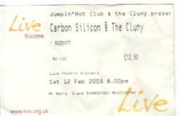CARBON SILICON, Newcastle 12/2/05 Gig Ticket