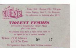 Newcastle 26/10/84 Gig Ticket