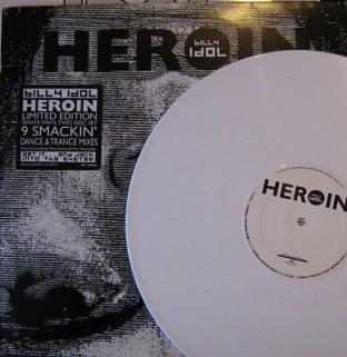 """Billy Idol 'Heroin' USA 12"""" promo"""