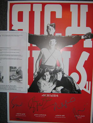 Rich Kids signed poster