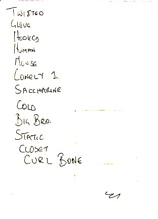 display image of FLUID - Newcastle 17/6/90 Set List