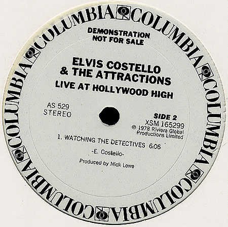 ELVIS COSTELLO, Live At Hollywood High