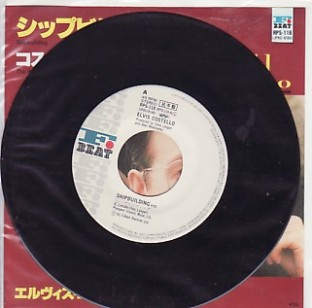 Elvis Costello - Shipbuilding Japanese promo