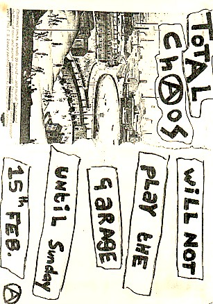 Total Chaos Gig Flyer
