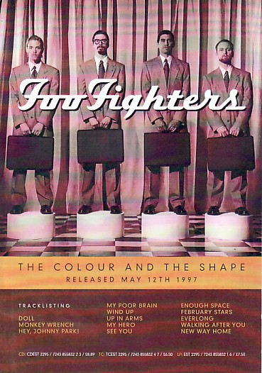 display image of FOO FIGHTERS - 1997 UK Promo Flyer