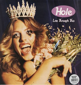 Hole Live Through This white vinyl with poster