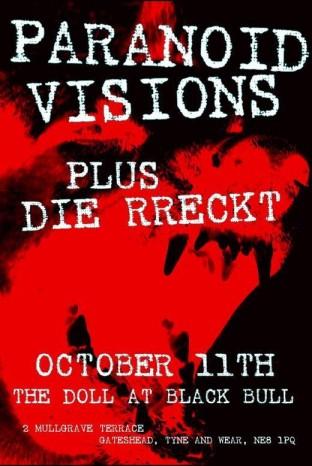 Paranoid Visions The Bull Gateshead