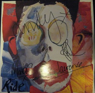 Ride  Going Blank Again LP fully signed