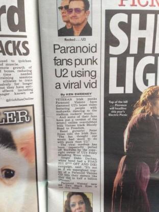 Paranoid Visions v U2