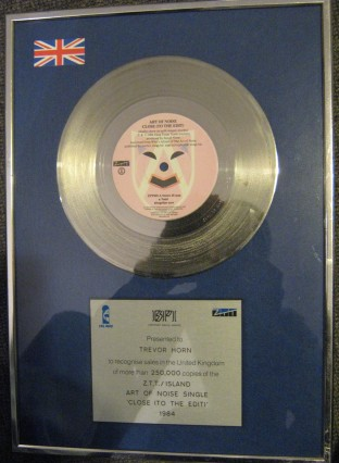 art of noise close to the edit silver disc