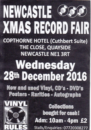 Newcastle Record Fair 28th December