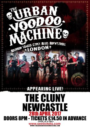 The3 Urban Voodoo machine - Newcastle April 28th
