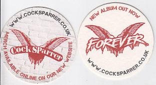 Cock Sparrer - Forever promotional beer mats