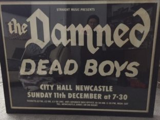 Damned & Dead Boys - Newcastle 1977 poster