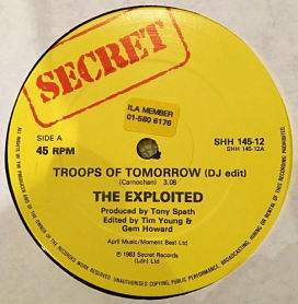 The Exploited 'Troops of Tomorrow' promo only 12""