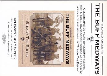 BUFF MEDWAYS, Steady The Buffs Promo Postcard