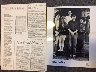 BLUE ORCHIDS, Press Photo & 3-Page Press Release