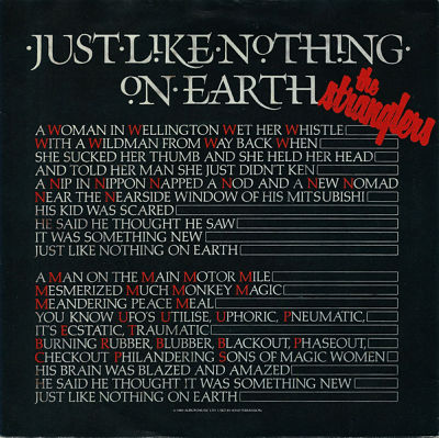 STRANGLERS, Just Like Nothing On Earth