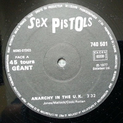 SEX PISTOLS, Anarchy In The UK