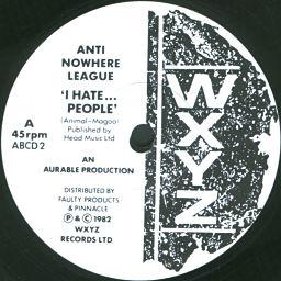 ANTI-NOWHERE LEAGUE, I Hate...People