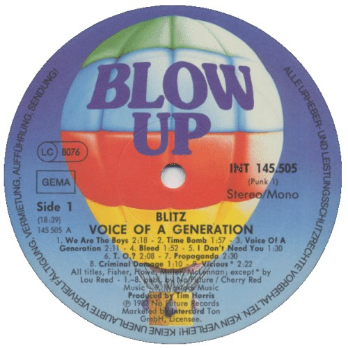 BLITZ, Voice Of A Gewneration