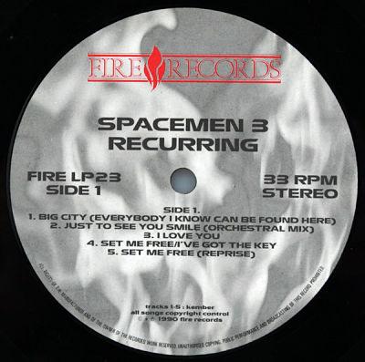 SPACEMEN 3, Recurring