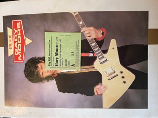 GARY MOORE, Live In '85 Tour Programme & Ticket