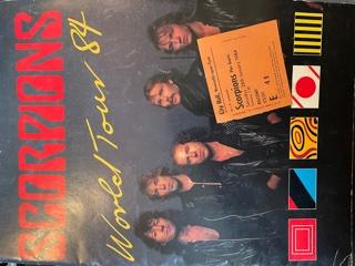 SCORPIONS, World Tour '84 Concert Programme