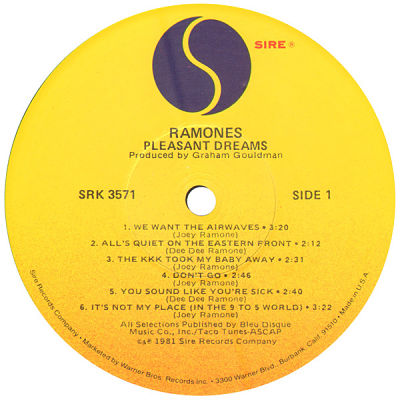 RAMONES, Pleasant Dreams
