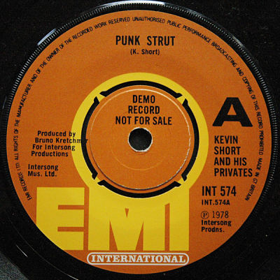 KEVIN SHORT AND HIS PRIVATES, Punk Strut