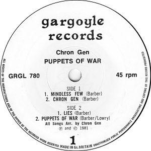 CHRON GEN, Puppets Of War