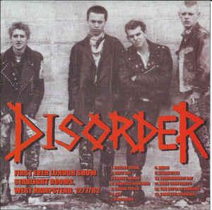 DISORDER, Demo 1980 / Live 1982