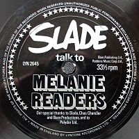 SLADE, Slade Talk To Melanie Readers