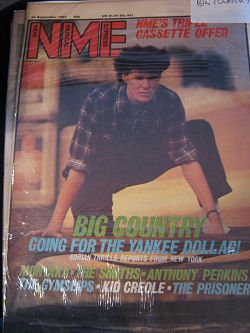 BIG COUNTRY, Front Cover NME 24/9/83