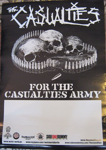 CASUALTIES, For The Casualties Army Promo Poster