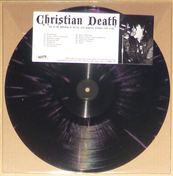 CHRISTIAN DEATH, Live At The Whiskey A Go Go, Los Angeles, October 31st, 1981