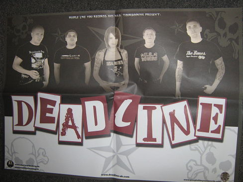 DEADLINE, 2005 German Tour Poster