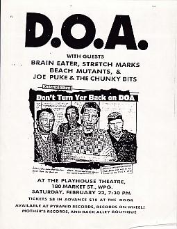 22/2/66 Winnipeg Small Gig Poster