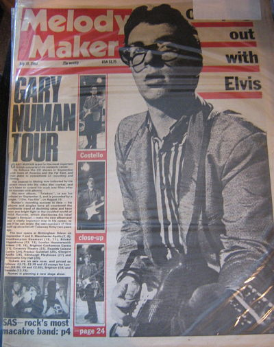Front Cover Melody Maker 19/7/80