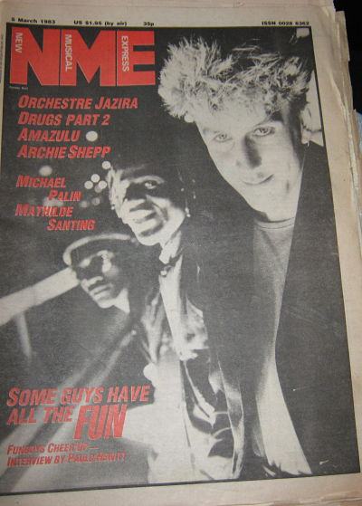 Front Cover NME 5/3/83