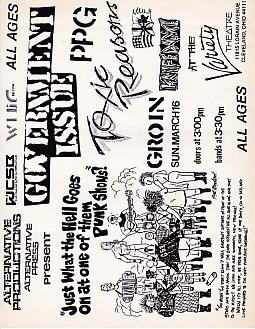 USA 16/3/86 Cleveland Gig Poster