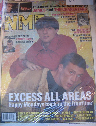 HAPPY MONDAYS, Front Cover NME 6/10/90