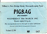 Newcastle 10/3/82 Gig Ticket