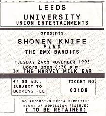 Leeds 24/2/92 gig ticket