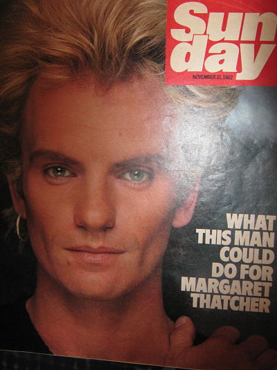 Front Cover Sunday Mag 21/11/82