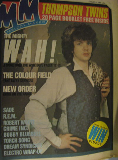 Front Cover Melody Maker 11/8/84